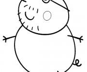 Coloriage dessin  Peppa Pig 25