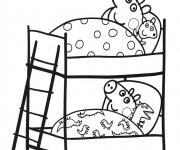 Coloriage dessin  Peppa Pig 3