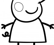 Coloriage dessin  Peppa Pig 30