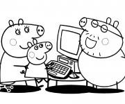 Coloriage dessin  Peppa Pig 34
