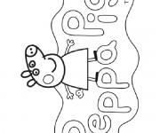 Coloriage dessin  Peppa Pig 36