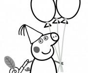 Coloriage dessin  Peppa Pig 37