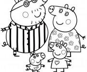 Coloriage Peppa Pig et ses Parents