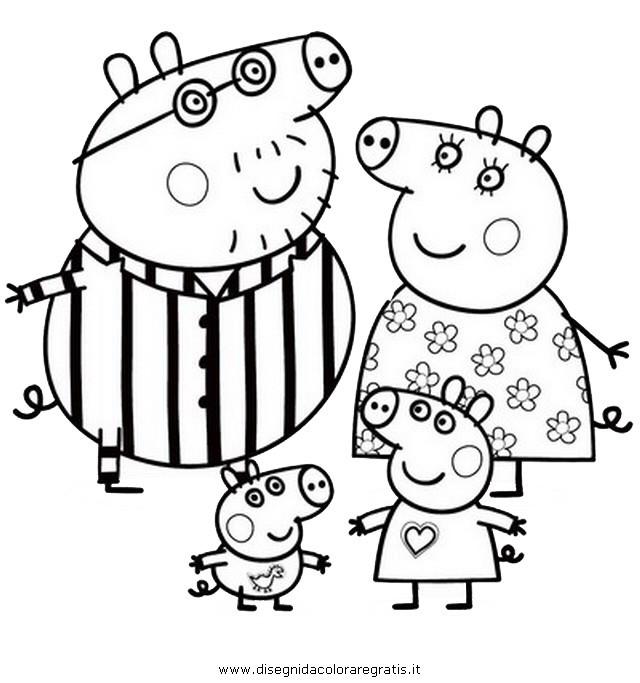 Coloriage et dessins gratuits Peppa Pig et ses Parents à imprimer