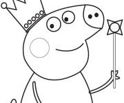 Coloriage Peppa Pig facile pour Garçon