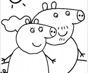 Coloriage Peppa Pig maternelle