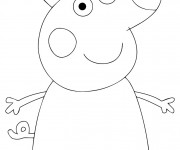 Coloriage Personnage Peppa Cochon simple