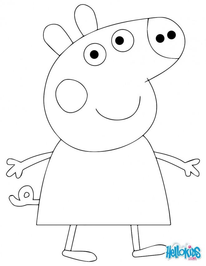 Coloriage et dessins gratuits Personnage Peppa Cochon simple à imprimer