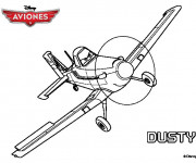 Coloriage Avion Dusty