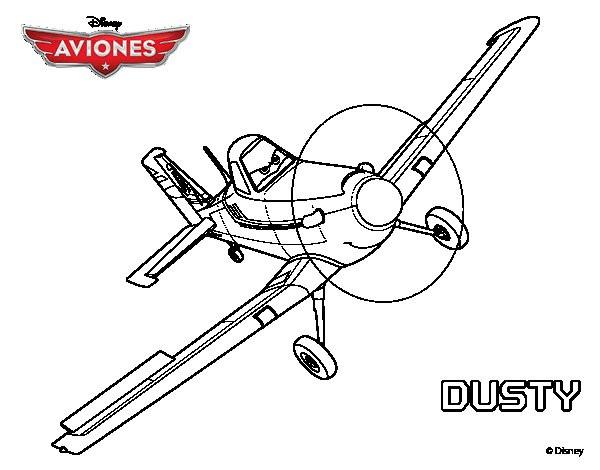 Coloriage Avion A Imprimer.Coloriage Avion Dusty Dessin Gratuit A Imprimer