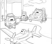 Coloriage et dessins gratuit Dusty et Dottie la réparatrice à imprimer
