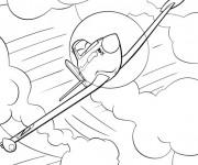 Coloriage et dessins gratuit Dusty  Planes sous Les Nuages à imprimer