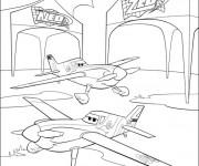 Coloriage et dessins gratuit Les jumeaux Planes à imprimer