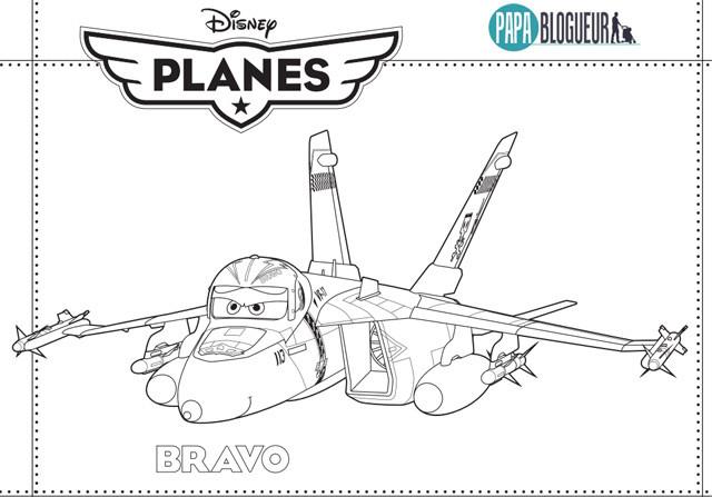 Coloriage Planes Bravo Disney Dessin Gratuit à Imprimer