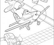 Coloriage et dessins gratuit Planes Dusty à découper à imprimer