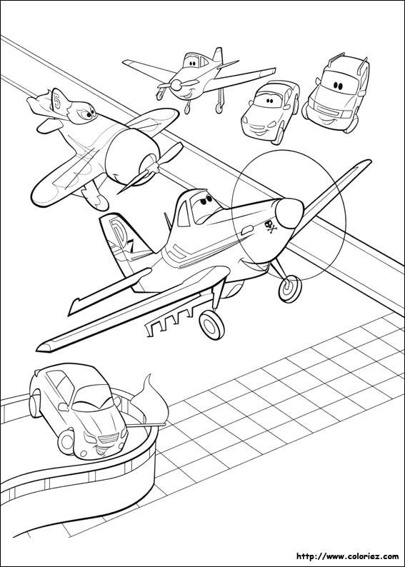 Coloriage et dessins gratuits Planes Dusty à découper à imprimer