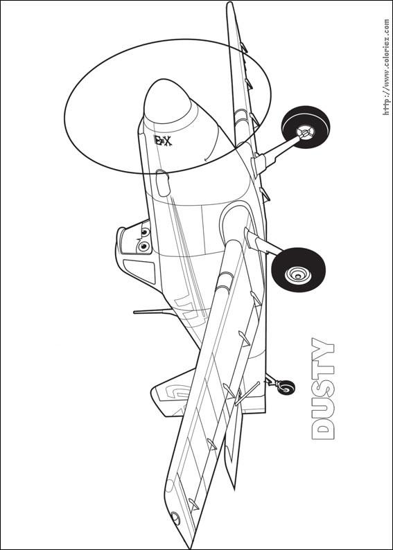 Coloriage et dessins gratuits Planes Dusty à télécharger à imprimer