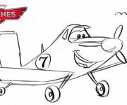 Coloriage Planes Dusty au crayon