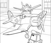 Coloriage Planes Dusty au Garage