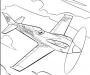Coloriage et dessins gratuit Planes Dusty dans Le Ciel à imprimer