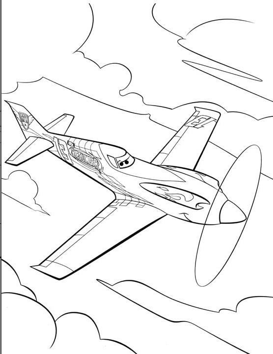 Coloriage et dessins gratuits Planes Dusty dans Le Ciel à imprimer