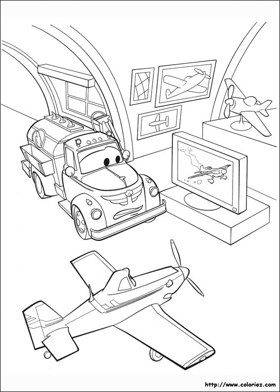 Coloriage et dessins gratuits Planes Dusty dans le Musée à imprimer
