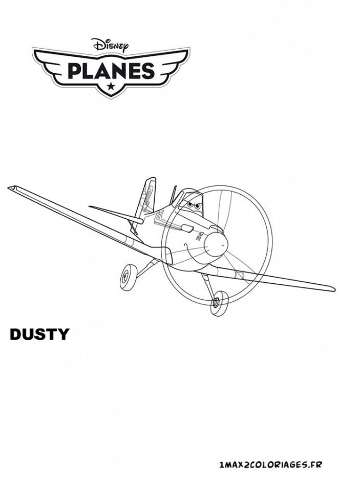 Coloriage et dessins gratuits Planes Dusty dessin animé à imprimer