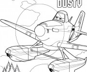 Coloriage Planes Dusty Disney
