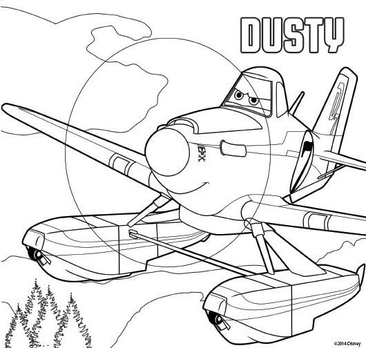 Coloriage et dessins gratuits Planes Dusty Disney à imprimer