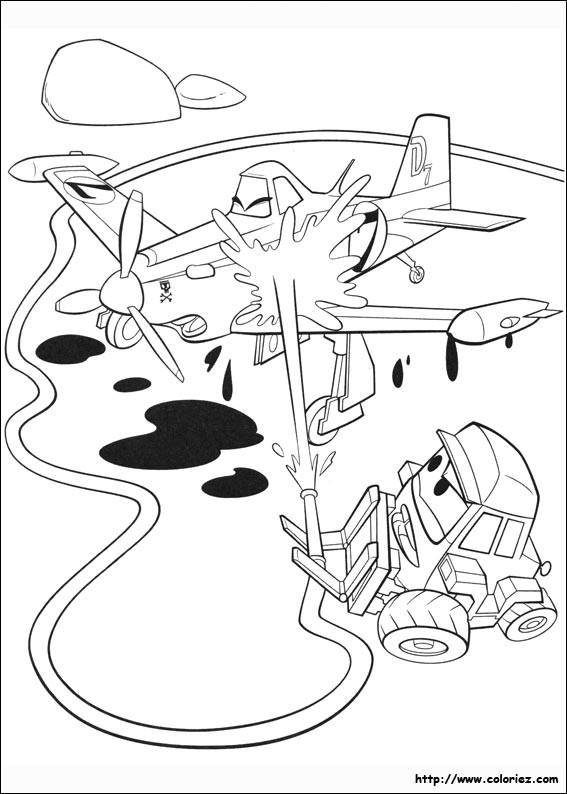 Coloriage et dessins gratuits Planes Dusty en nettoyage à imprimer