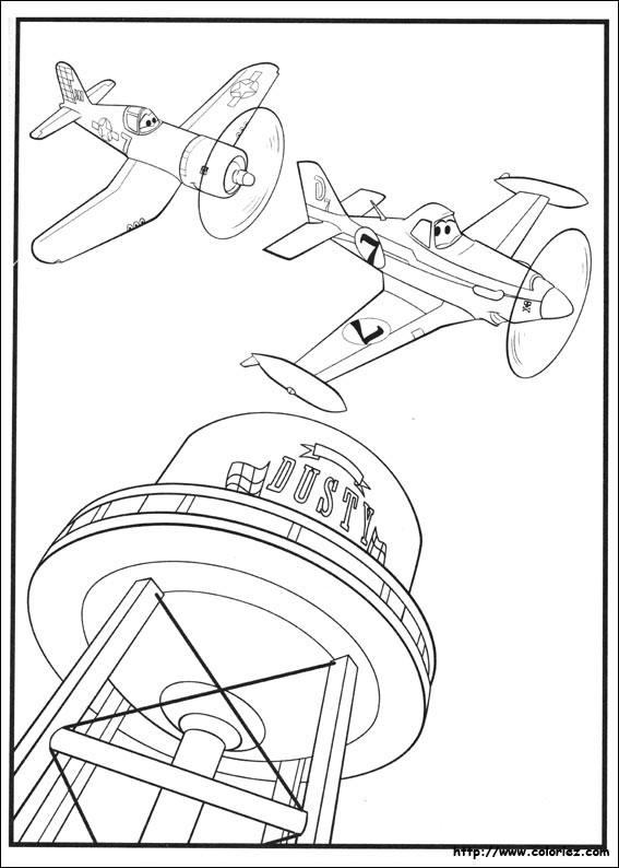 Coloriage et dessins gratuits Planes Dusty encadré à imprimer