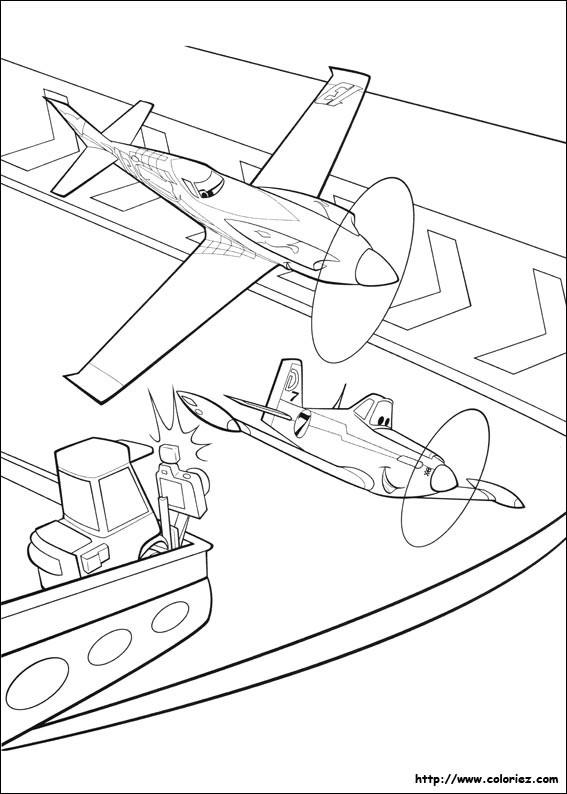 Coloriage et dessins gratuits Planes Dusty maternelle à imprimer