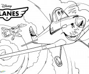 Coloriage Planes Dusty prend son envol