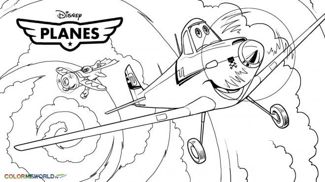 Coloriage et dessins gratuits Planes Dusty prend son envol à imprimer