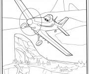Coloriage Planes Dusty s'envole Le Pôle Nord