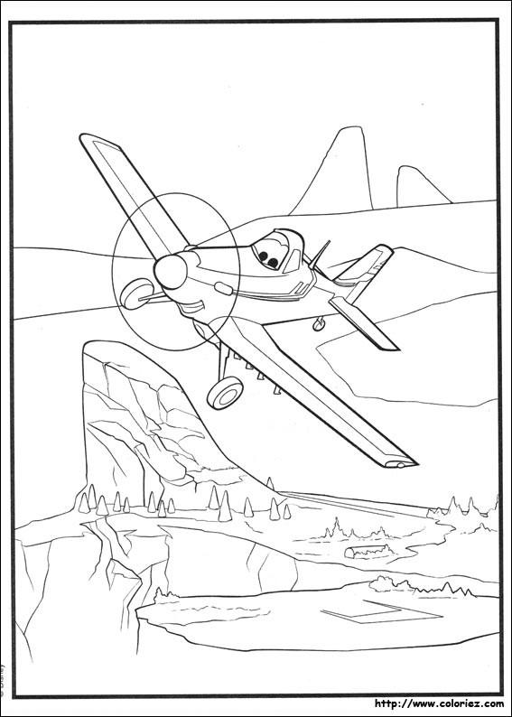 Coloriage et dessins gratuits Planes Dusty s'envole Le Pôle Nord à imprimer