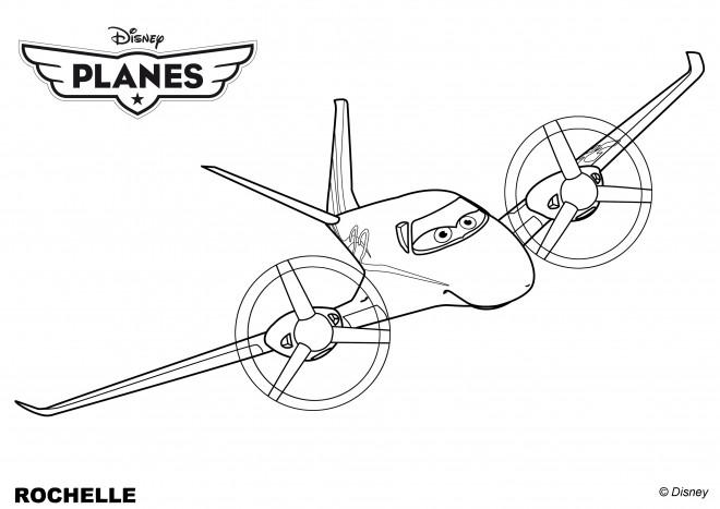 Coloriage et dessins gratuits Planes Dusty stylisé à imprimer