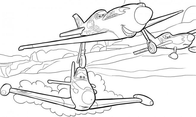 Coloriage planes dusty vecteur dessin gratuit imprimer - Planes coloriage ...