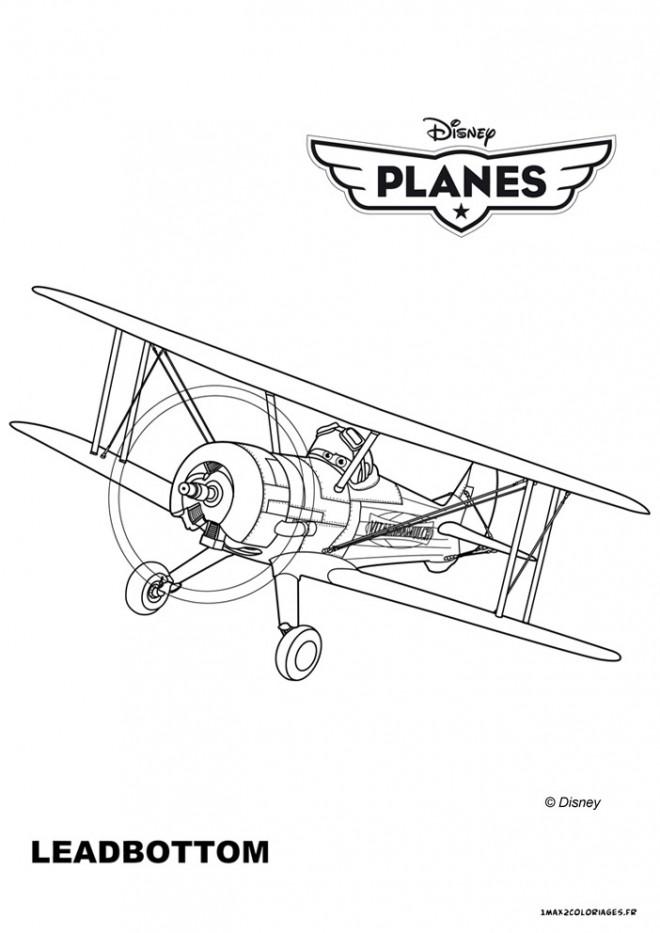 Coloriage et dessins gratuits Planes Leadbottom à imprimer