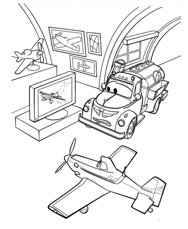Coloriage et dessins gratuits Le Musée des Avions à imprimer