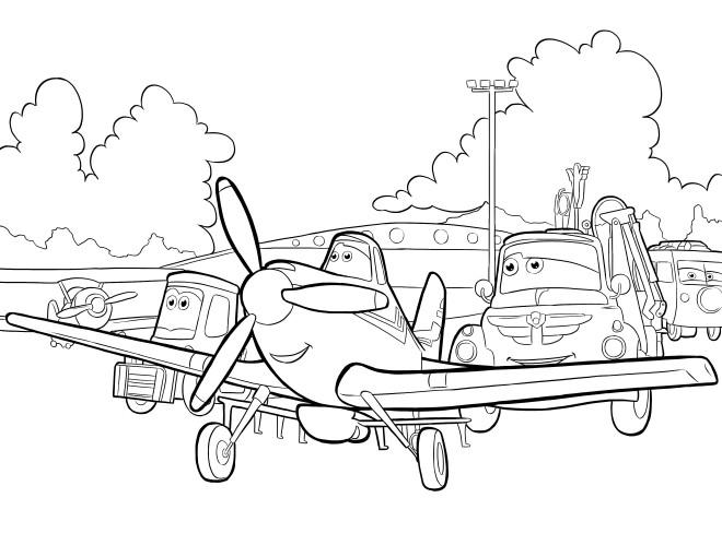 Coloriage et dessins gratuits Personnages de Planes Dusty  Pixar à imprimer