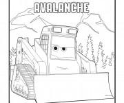 Coloriage Planes Avalanche Pixar