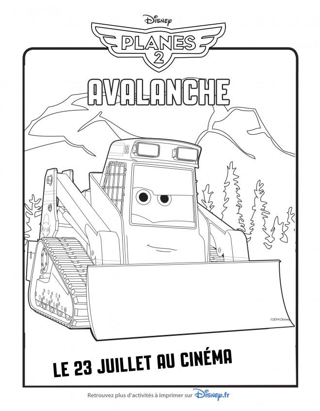 Coloriage et dessins gratuits Planes Avalanche Pixar à imprimer