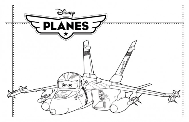 Coloriage et dessins gratuits Planes  Bravo Pixar à imprimer