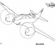 Coloriage Planes Bulldog Pixar