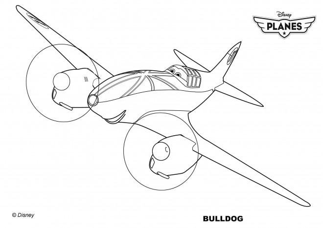 Coloriage et dessins gratuits Planes Bulldog Pixar à imprimer