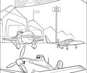 Coloriage Planes Course Pixar