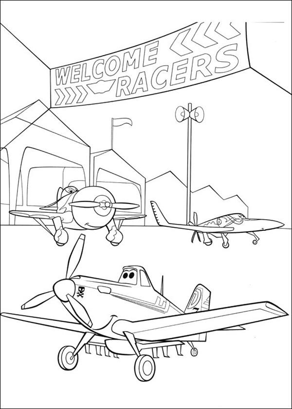 Coloriage et dessins gratuits Planes Course Pixar à imprimer