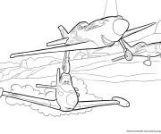 Coloriage Planes dans Le Ciel Pixar
