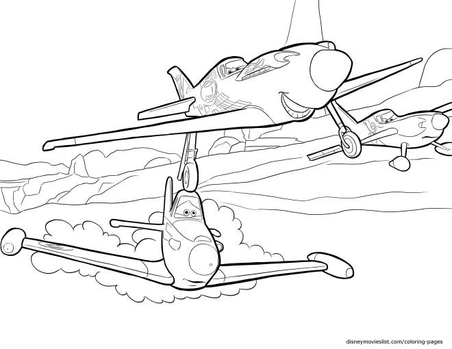 Coloriage Planes Dans Le Ciel Pixar Dessin Gratuit à Imprimer